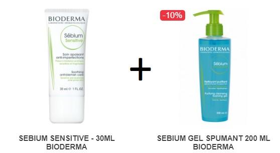 Pachet SEBIUM SENSITIVE - 30ML + SEBIUM GEL SPUMANT 200 ML BIODERMA