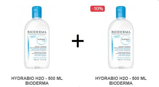 Pachet 2X HYDRABIO H2O - 500 ML BIODERMA