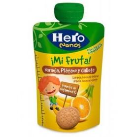 Hero Nanos Desert Fructe Cu Biscuiti 100G,+12