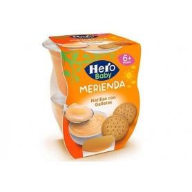 Hero Baby-Merienda- Budinca Cu Biscuiti 2x130g +6