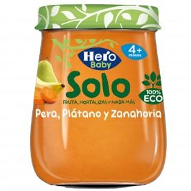 Hero Baby Solo Piure Pere ,Banane Si Morcovi 120G Eco +4