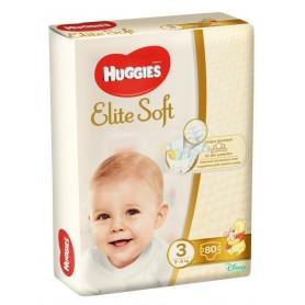 Huggies Elite Soft (3) Mega 80- (5-9Kg)