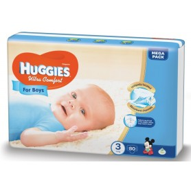 Huggies Ultra Confort Boy 3 (80) 5-9Kg