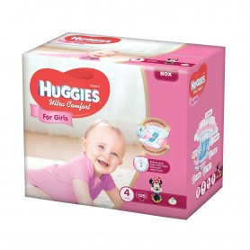 Huggies Ultra Confort Girl 4 (126) 8-14Kg