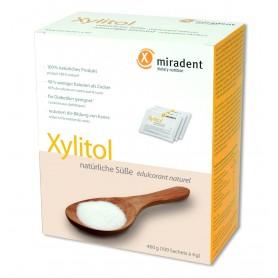 Xylitol - Miradent Pudra, Indulcitor Natural, 400G (100 Plicuri A 4G)