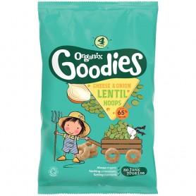 Goodies premium puffs - Inele din linte cu ceapa si branza, 4x15g,12+,eco