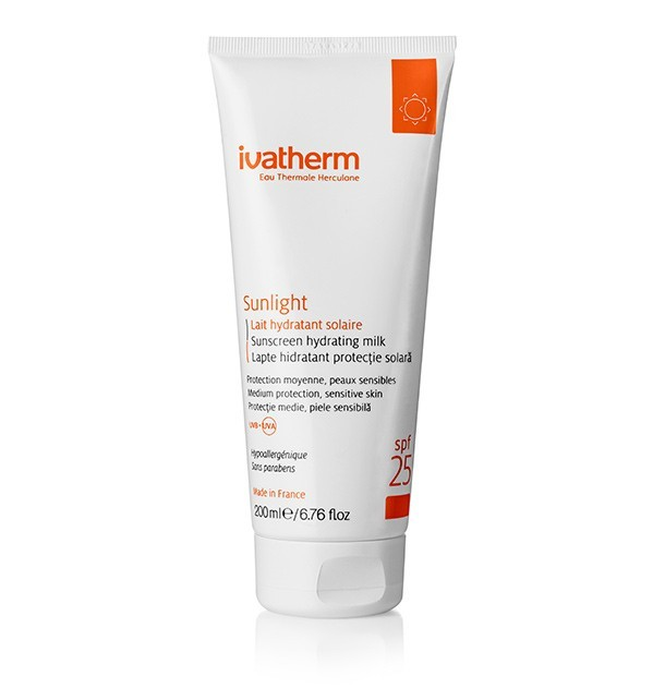 LAPTE HIDRATANT SPF 25 SUNLIGHT - 200 ML IVATHERM