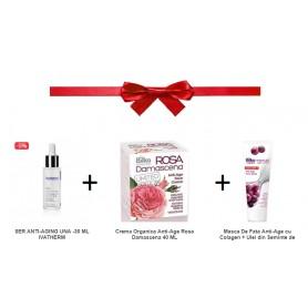 Masca De Fata, Anti-Age Cu Colagen + Ser Anti-Age + Crema Anti-Age, Organica Oferta Promo