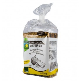 Paine Crocanta Bio din Cereale Integrale cu Branzeturi si Seminte de Dovleac, 200 g Bohlsener Muhle