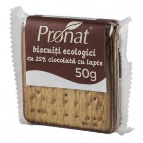 Biscuiti Bio cu 25% Ciocolata cu Lapte Pronat - 50 g