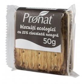 Biscuiti Bio cu 25% Ciocolata Neagra Pronat - 50 g