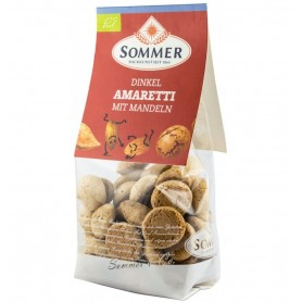 Biscuiti Bio Amaretti din Faina de Grau Spelta cu Migdale Sommer - 100 g