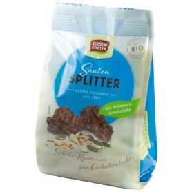 Bucati de Ciocolata Bio cu Lapte si Seminte Rosen Garten - 75 g