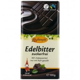 Birkengold - Ciocolata 85% cacao indulcita cu xylitol, 100g