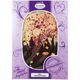 Ciocolata Artizanala Bio cu piersici/melba fara gluten Gesundkost Liebhart's - 150 g