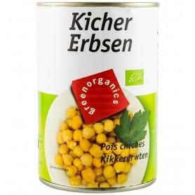 Conserva Bio de Naut Green Organics greutate bruta 400 g neta 240 g