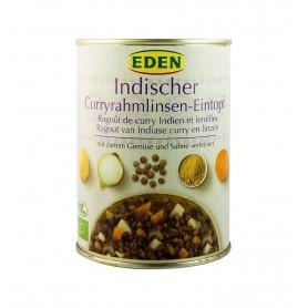 Eden - Ghiveci indian bio de linte cu smantana si curry, 560g