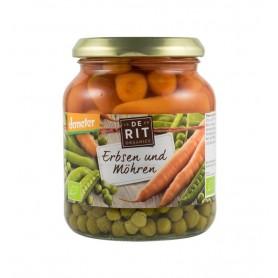 De Rit - Mazare cu morcovi bio demeter, 340g