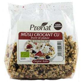 Bio Musli Crocant cu Fructe de Padure Pronat - 250 g