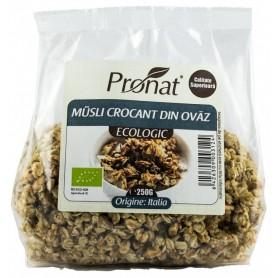 Musli Crocant Bio din Ovaz Pronat -  250 g
