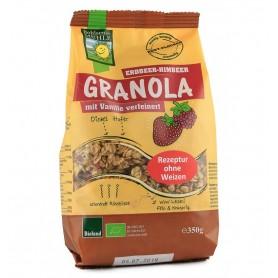 Bohlsener Muhle – Musli BIO Granola cu zmeura si capsuni, 350 g