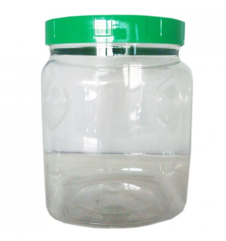 borcan din plastic alimentar, 2000 ml