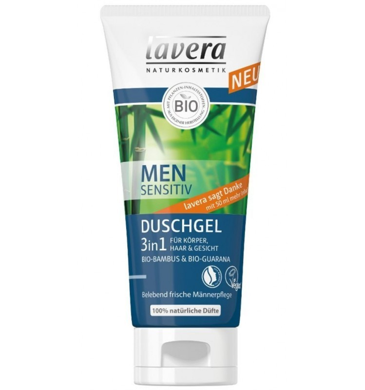 Gel de Dus 3 in 1 Men Sensitiv Lavera - 200 ML