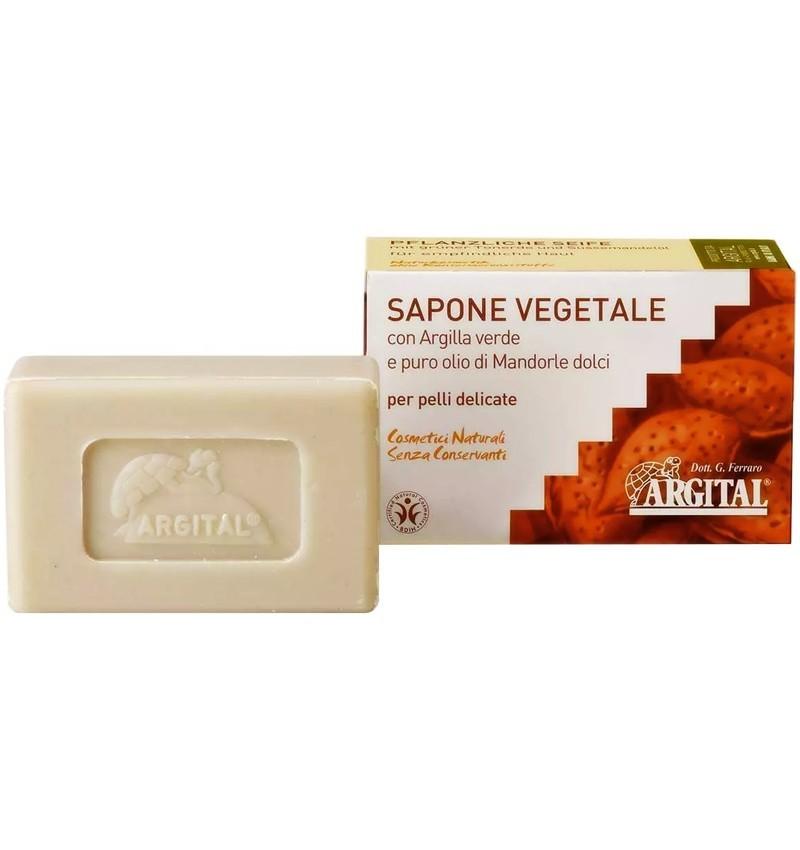 Sapun Vegetal cu Argila Verde si Migdale Dulci Argital - 100 g