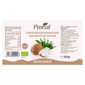 Chipsuri Deshidratate din Nuca de Cocos Bio Pronat - 110 g
