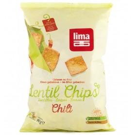 Chipsuri Bio din Linte cu Chilli Lima - 90 g