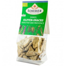 Snack Bio din Faina de Grau Spelta cu Masline si Ierburi de Provence Sommer - 150 g