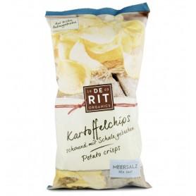 De Rit – Chipsuri bio de cartofi cu sare de mare, 125 gr