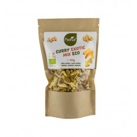 Mix exotic bio de curry, caju, ananas, mango si banane, 100g