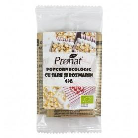 Popcorn Bio pentru Cuptor cu Microunde cu Sare si Rozmarin Pronat - 45 g