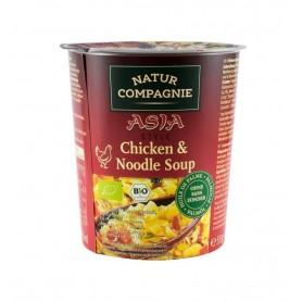 Supa Bio de Pui cu Taitei, 55 g Asia Style