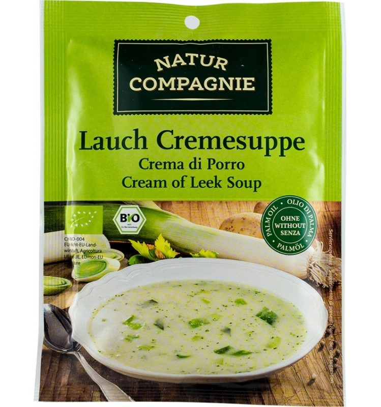 natur compagnie - supa crema de praz, bio, 43g