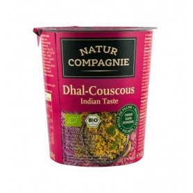 Mancare Bio la Pahar Dhal Cuscus Gust Indian Natur Compagnie - 68 g
