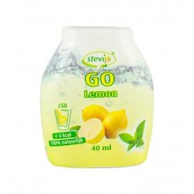 SteviJa GO - Indulcitor pe baza de stevie cu aroma de lamaie, 40 ml