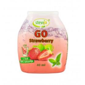 SteviJa GO, Indulcitor pe baza de stevie cu aroma de capsuni, 40 ml