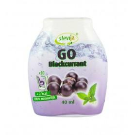 SteviJa GO - Indulcitor pe baza de stevie cu aroma de coacaze negre, 40 ml