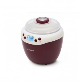 Iaurtiera-fermentator Oursson FE2103D/DC, afisaj LED, 2 programe, 2 L, Protecție la supraîncălzire, Visiniu