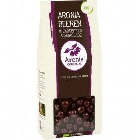 Fructe de Aronia BIO glazurate cu ciocolata, 200 g