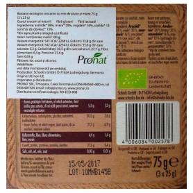 Schock 's - Batoane bio crocante cu afine rosii si migdale 3x25 g