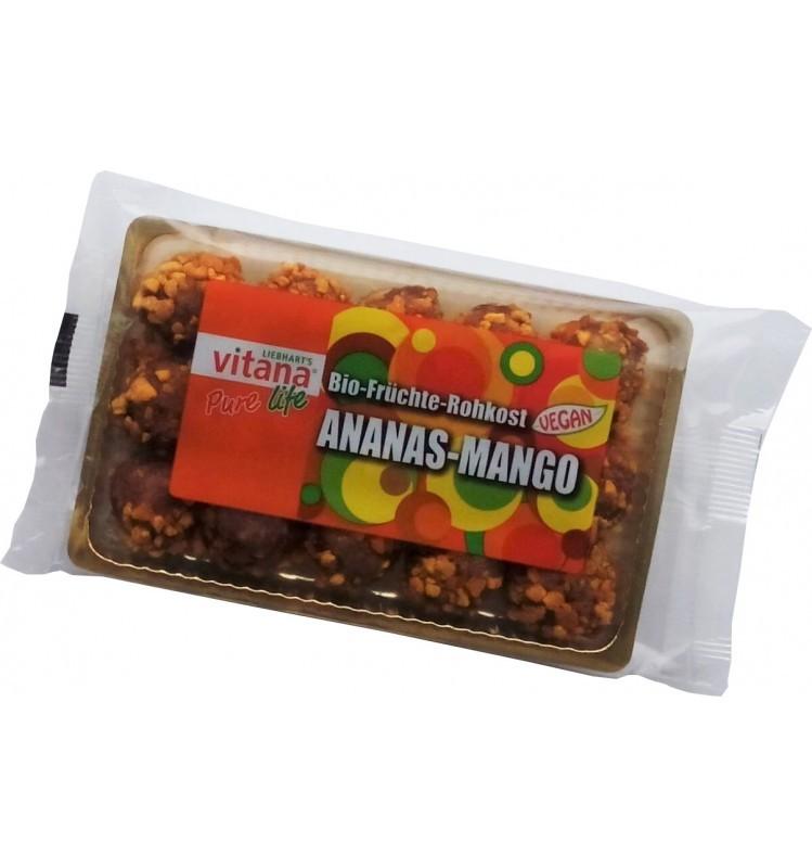 liebharts vitana – bombite bio vegan ananas-mango, 120 g