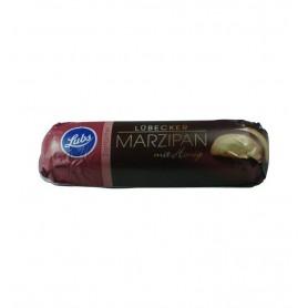 Lubs - Baton Bio de martipan cu miere invelit in ciocolata neagra, 50gr