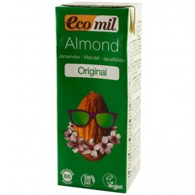 ECOMIL – Bautura Bio de migdale Original, 200 ml, cu pai