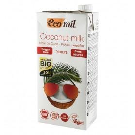 Ecomil - Bautura vegetala Bio de cocos, fara zahar, 1L