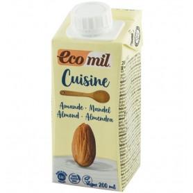 ECOMIL CUISINE - Crema vegetala bio din migdale, pentru gatit, 200 ml
