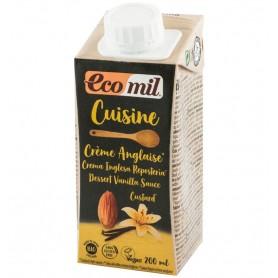 ECOMIL CUISINE - Crema vegetala bio din migdale si vanilie, pentru gatit, 200 ml