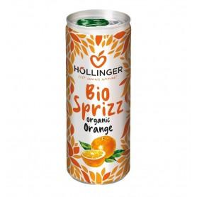 Suc de portocale Bio Hollinger 250 ml, Carbogazos